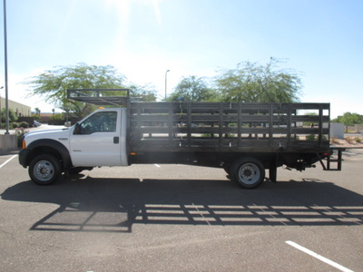 USED 2007 FORD F550 STAKE BODY TRUCK #2378-6