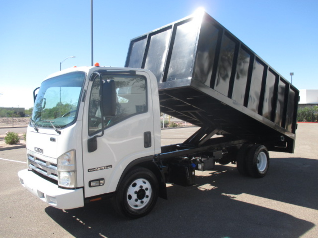USED 2011 ISUZU NPR HD BOX DUMP TRUCK #2382