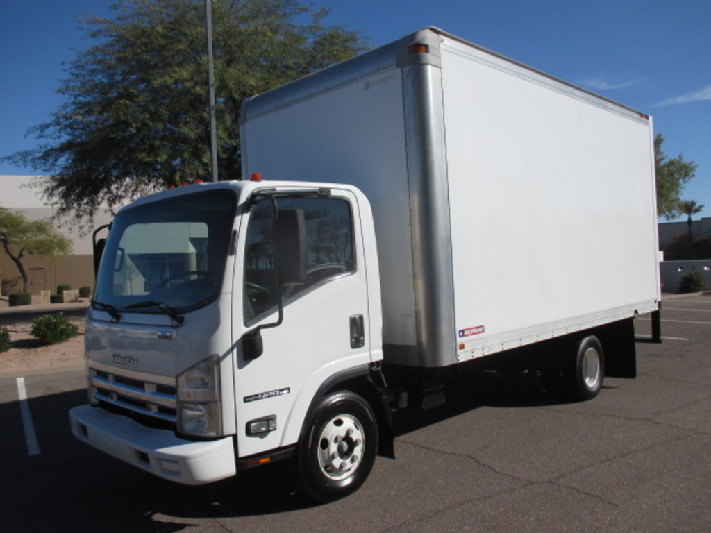 USED 2008 ISUZU NPR HD BOX VAN TRUCK #2395