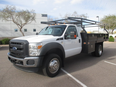 USED 2012 FORD F450 FLATBED TRUCK #2406-1