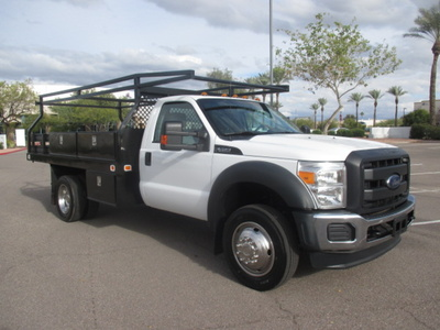 USED 2012 FORD F450 FLATBED TRUCK #2406-2