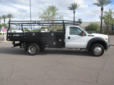 USED 2012 FORD F450 FLATBED TRUCK #2406-3