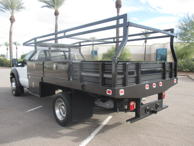 USED 2012 FORD F450 FLATBED TRUCK #2406-4