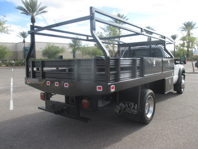 USED 2012 FORD F450 FLATBED TRUCK #2406-5