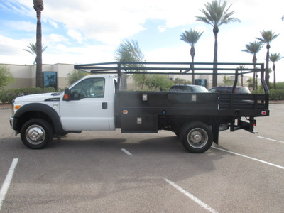 USED 2012 FORD F450 FLATBED TRUCK #2406-6