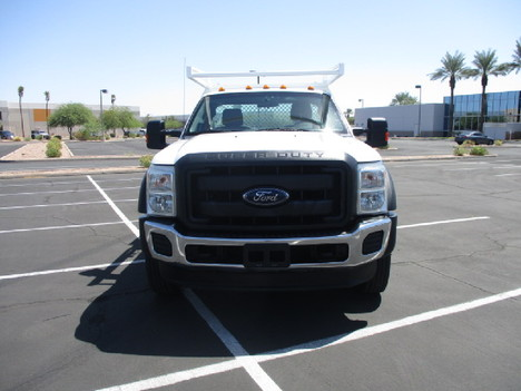 USED 2015 FORD F450 FLATBED TRUCK #2571-2