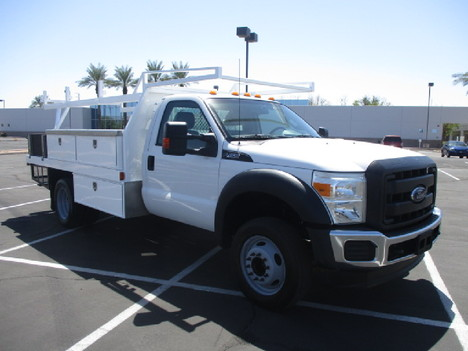 USED 2015 FORD F450 FLATBED TRUCK #2571-3