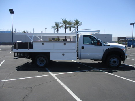 USED 2015 FORD F450 FLATBED TRUCK #2571-4