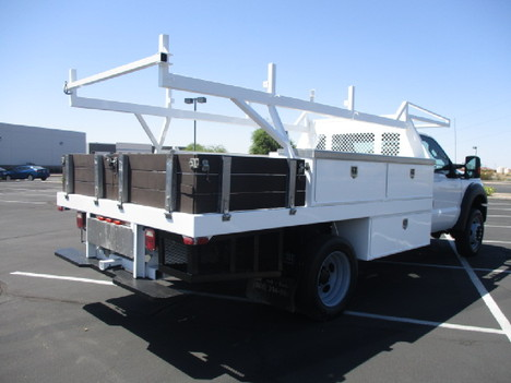 USED 2015 FORD F450 FLATBED TRUCK #2571-5