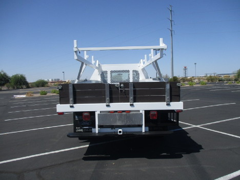 USED 2015 FORD F450 FLATBED TRUCK #2571-6