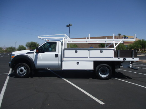 USED 2015 FORD F450 FLATBED TRUCK #2571-8