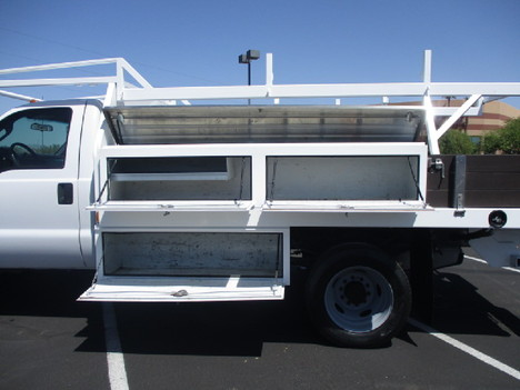 USED 2015 FORD F450 FLATBED TRUCK #2571-9